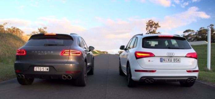 Porsche Macan S Diesel vs Audi SQ5 TDI Drag Race