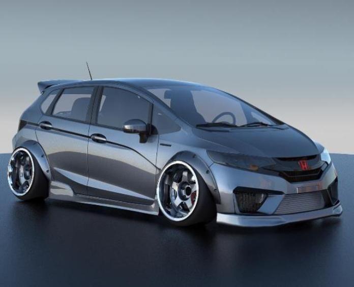 2015 Honda Fit for SEMA (1)