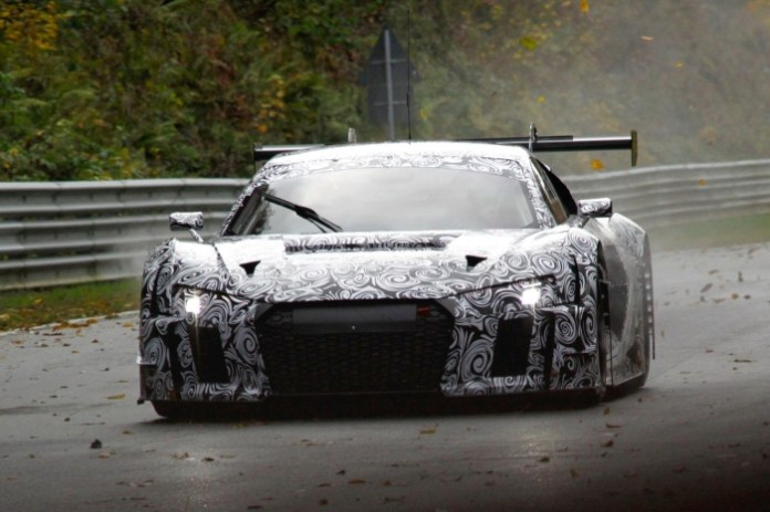 Audi R8 LMS Ultra 2016 spy photos (2)