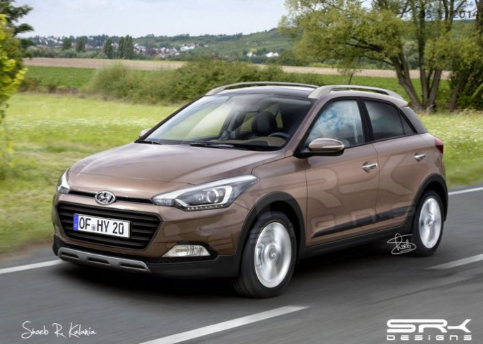 Hyundai i20 Cross renderings