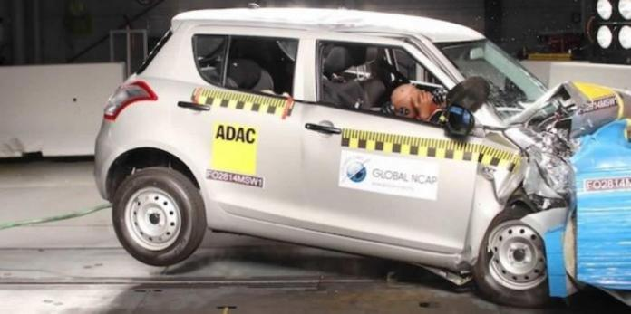 Maruti Suzuki Swift at Bharat NCAP crash test