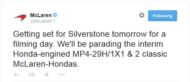 McLaren - Honda Tweet