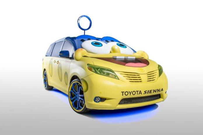 SpongeBob themed Toyota Sienna for the L.A. Auto Show (3)