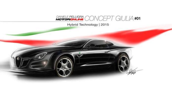 2015 Alfa Romeo midsize sedan-Giulia render 1