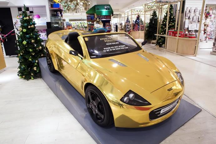 Gold-plated Atom Car Selfridges (1)