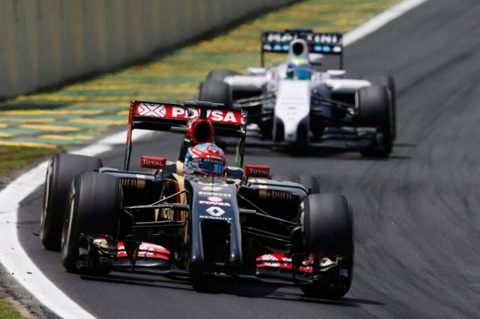 Interlagos, Sao Paulo, Brazil. Sunday 9 November 2014. Romain Grosjean, Lotus E22 Renault. World Copyright: Glenn Dunbar/Lotus F1. ref: Digital Image _W2Q2467