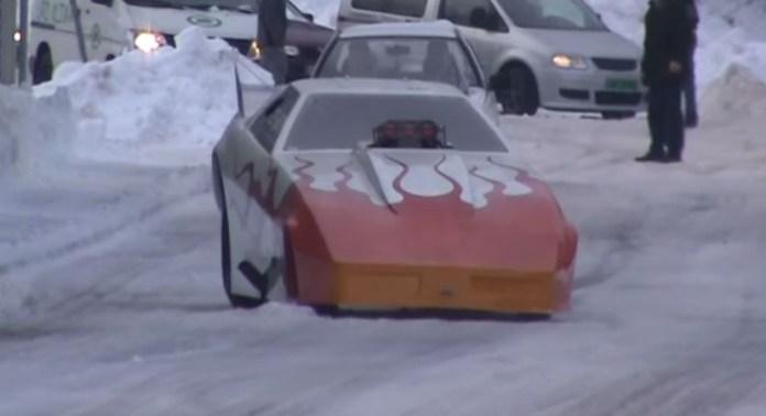 funny car snow