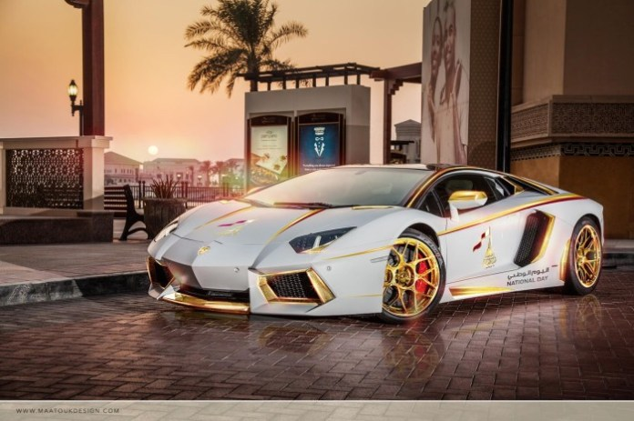 Lamborghini Aventador Roadster National Day Golden Limited Edition (1)