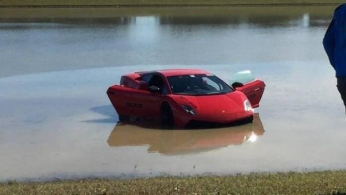 Lamborghini gallardo lake