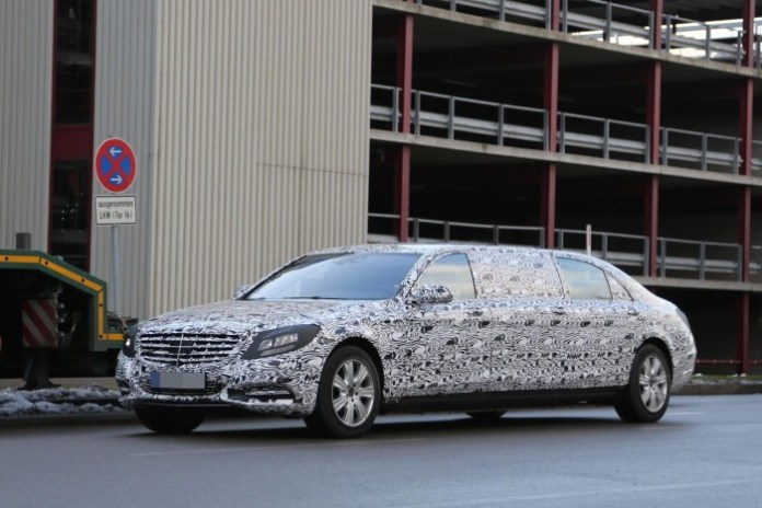 Mercedes S-Class Pullman 2016 Spy Photos (2)