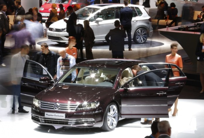 Volkswagen Phaeton Exclusive is pictured during a media preview day at the Frankfurt Motor Show