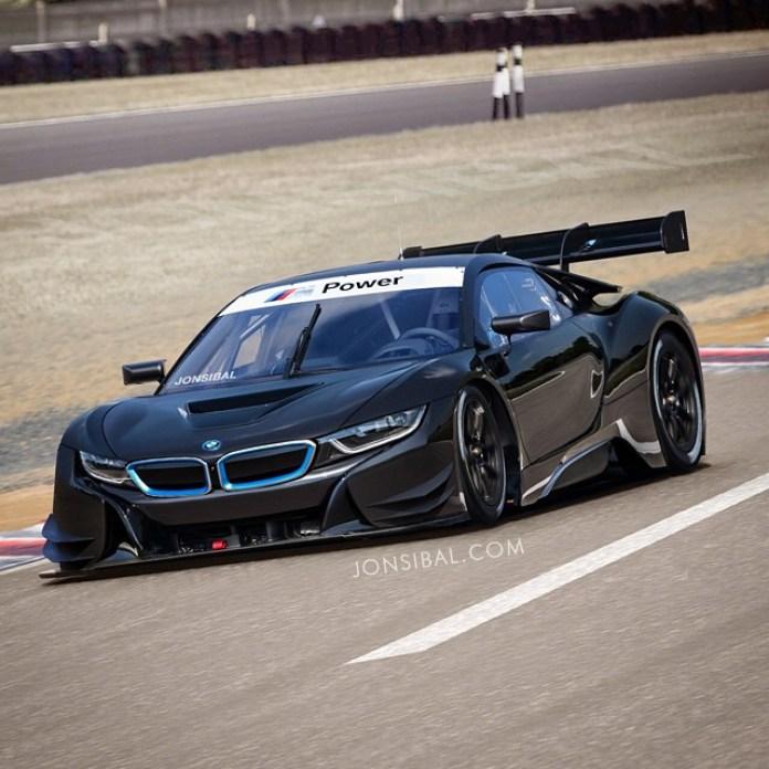 BMW i8 racing car