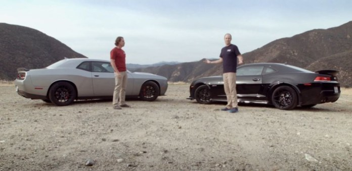 Dodge Challenger SRT Hellcat vs Chevrolet Camaro Z28