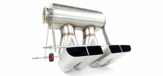 QuickSilver titanium exhaust system for the Bugatti Veyron Grand Sport Vitesse