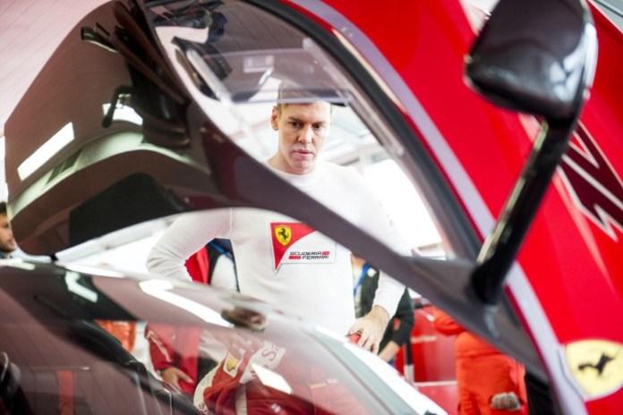 Sebastian Vettel and the Ferrari FXX K (3)