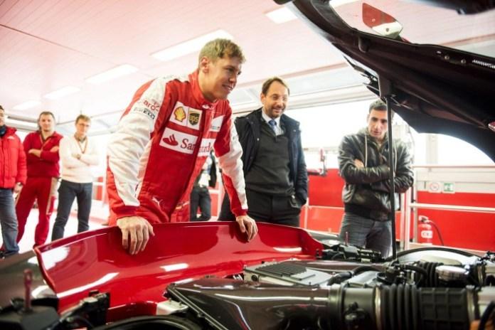 Sebastian Vettel and the Ferrari FXX K (4)