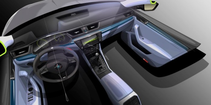 Skoda Superb 2015 interior (2)