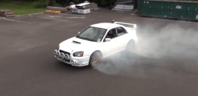 Subaru Impreza STI donuts