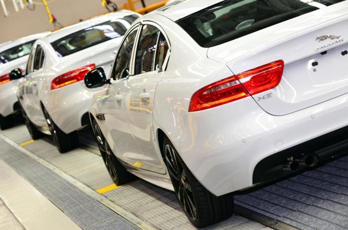 Jaguar XE production