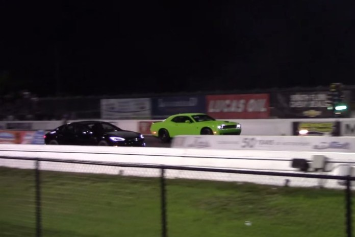 Model S P85D Vs SRT Hellcat
