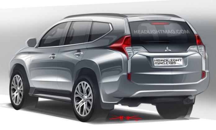2015-Mitsubishi-Pajero-Sport-rear-three-quarter-rendering