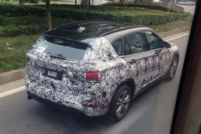 2016 BMW X1 LWB spy photos (1)