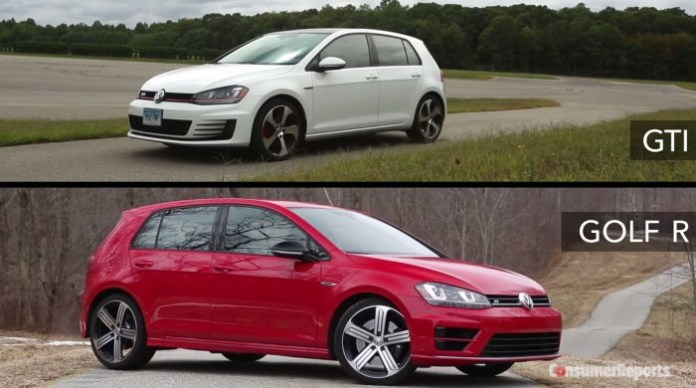 Golf R and GTI
