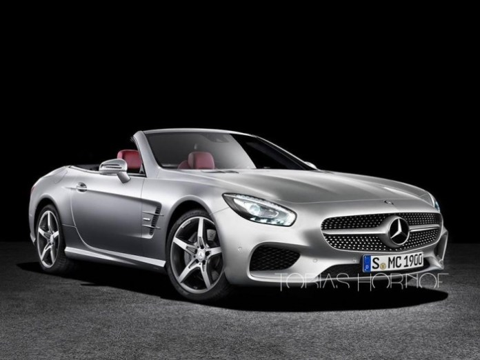 Mercedes SL Class Facelift and Audi A3 Facelift Renderings_1