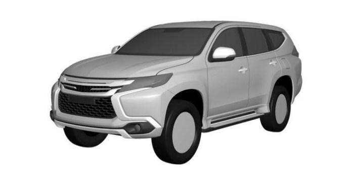 Mitsubishi Pajero Sport 2016 patents (1)
