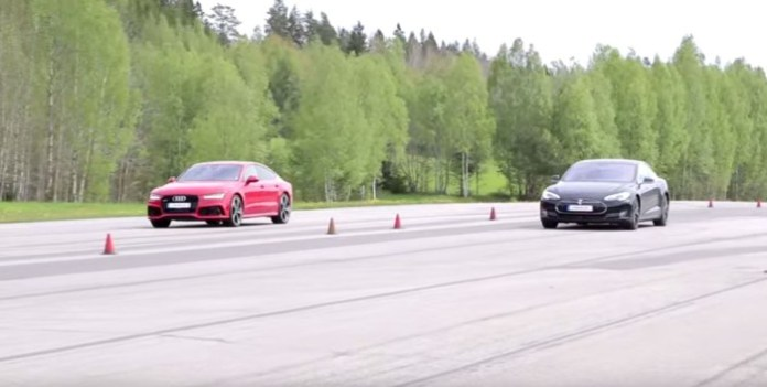 Tesla Model S P85D vs Audi RS7
