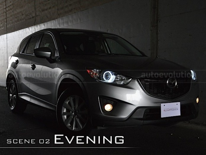 angel-eyes-headlights-for-mazda-cx-5-look-aggressive-video-photo-gallery_5