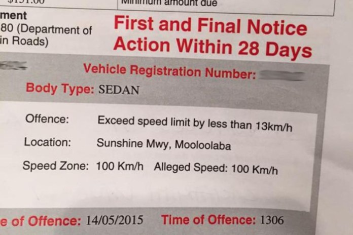 speed ticket