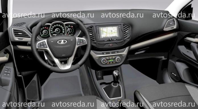 Lada Vesta leaked interior image
