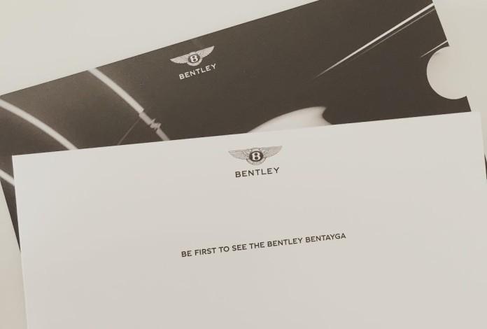 Bentley Bentayga invitation