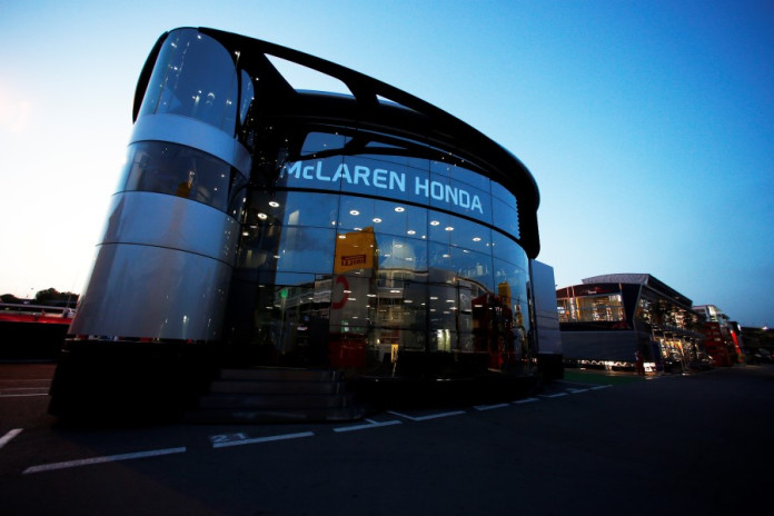 The Brand Centre in the paddock.