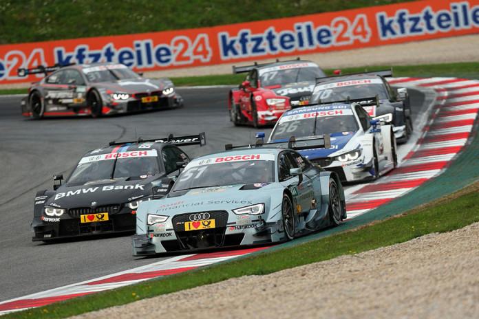 #51 Nico Müller, Audi RS5 DTM, #7 Bruno Spengler, BMW M4 DTM, #36 Maxime Martin, BMW M4 DTM