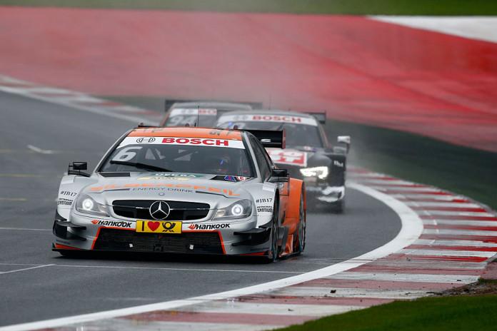#6 Robert Wickens, Mercedes-AMG C 63 DTM, #10 Timo Scheider, Audi RS5 DTM