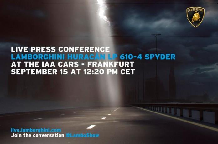 Lamborghini Huracan Spyder teaser image