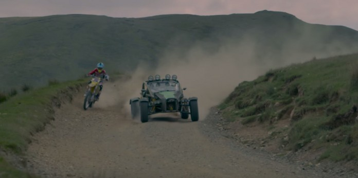 Bike vs Car- Ariel Nomad vs Suzuki, on DIRT