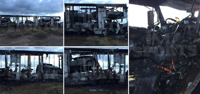 Floyd Mayweather burned cars