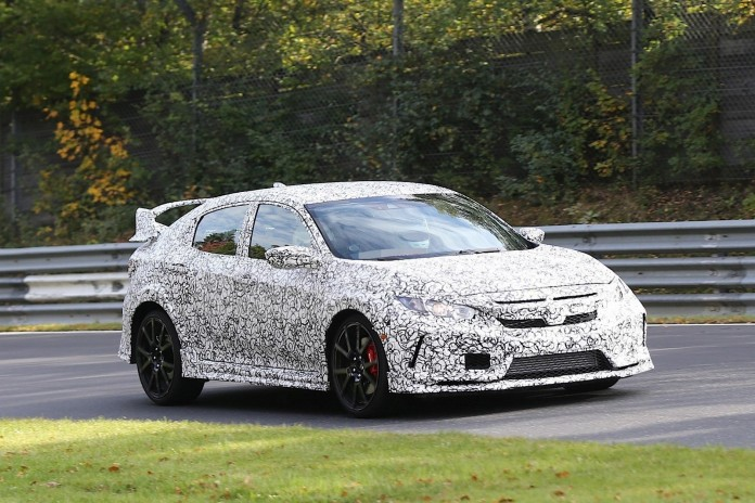 Honda Civic Type R next generation spy photos (2)