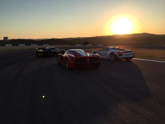Jeremy Clarkson, James May, Richard Hammond Ferrari LaFerrari, McLaren P1, Porsche 918 Spyder 3