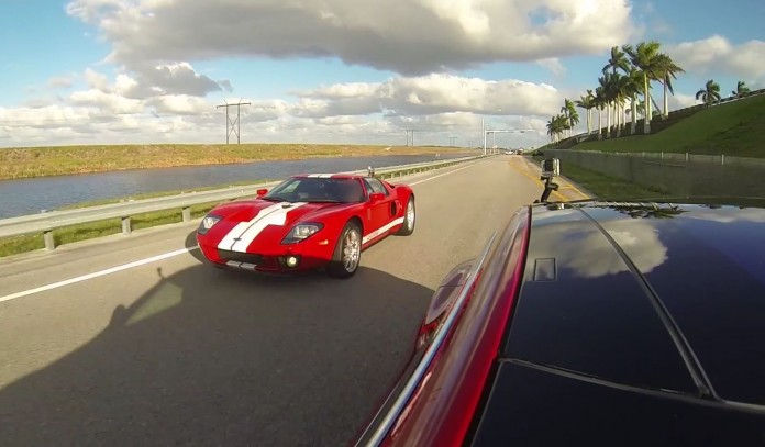 Tesla Model S P90D Vs Ford GT