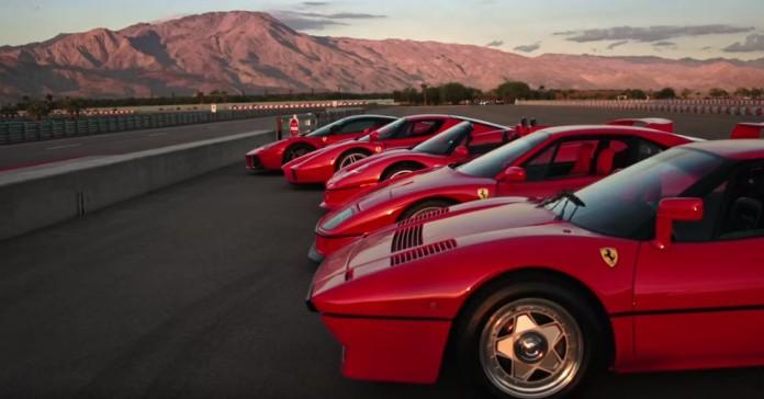 288 GTO vs F40 vs F50 vs Enzo vs LaFerrari
