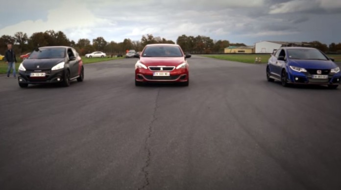 Civic Type R Vs 308 GTi Vs 208 GTi BPS