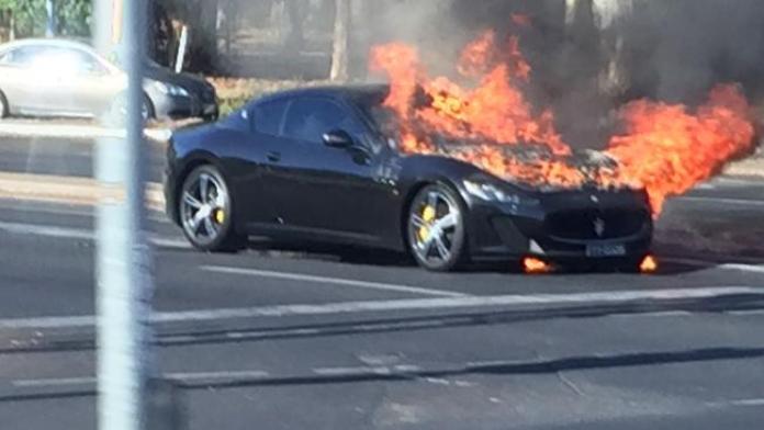 Maserati GranTurismo MC Stradale fire (1)