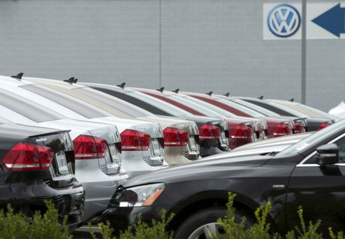 An assortment of Volkswagen Passat vehicles sit for sale at a Volkswagen dealership in San Diego, California, September 21, 2015. Lawmakers on a panel in the House of Representatives will hold a hearing on Volkswagen's emissions from diesel vehicles in coming weeks, lawmakers said on Monday. The House Oversight and Investigations subcommittee will hold a hearing on Volkswagen's issues with diesel cars sold in the United States from 2008 to 2015. The Environmental Protection Agency on Friday accused Volkswagen of including software in the diesel vehicles that allowed them to emit pollutants above legal limits pollutants while on the road, but reduced the pollution during emissions tests. REUTERS/Mike Blake - RTX1RS5Z