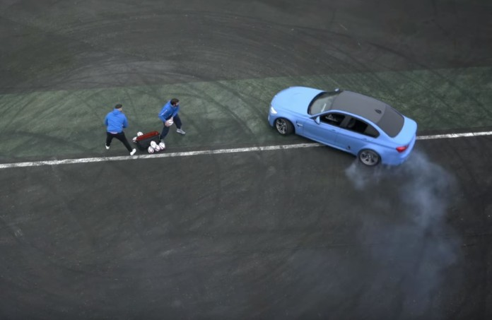 BMW M3 Vs Rugby Players