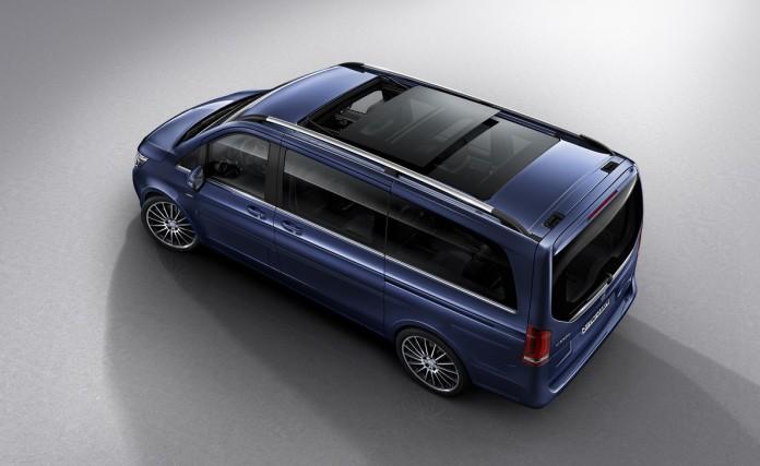 V-Klasse EXCLUSIVE – Exterieur, cavansitblau metallic, Panorama-Dach