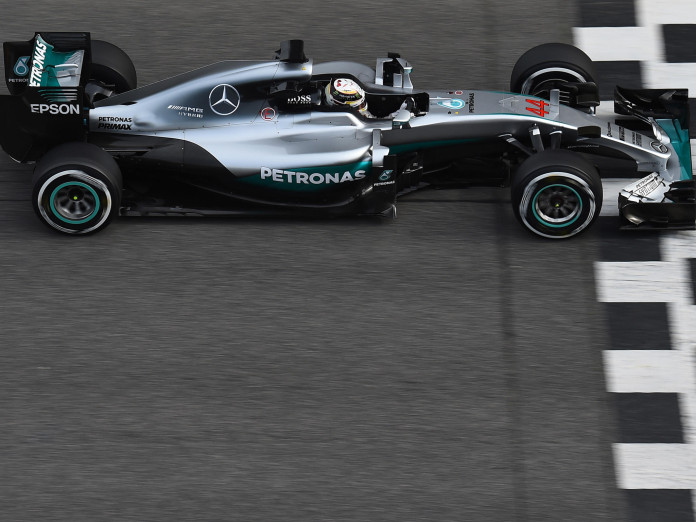 Lewis Hamilton (GBR) Mercedes-Benz F1 W07 Hybrid at Formula One Testing, Day Three, Barcelona, Spain, Wednesday 24 February 2016.